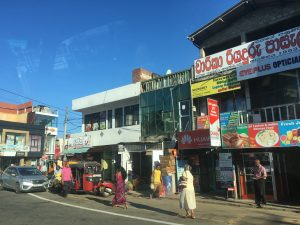 Hikkaduwa shopping centre in Sri Lanka