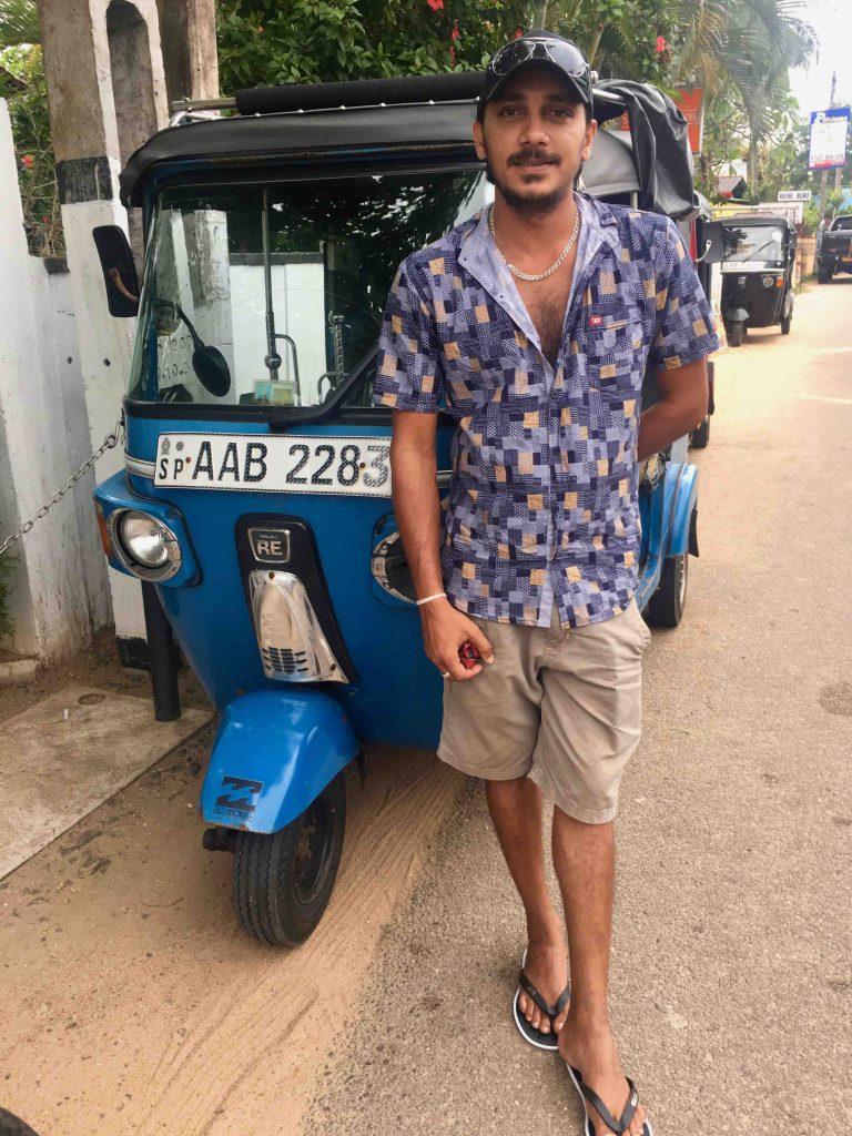 Tuk tuk driver Chinthaka