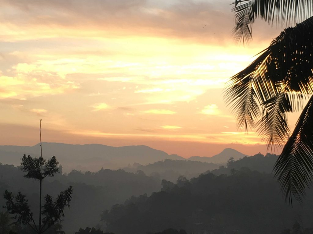 Sunset in Kandy Sri Lanka