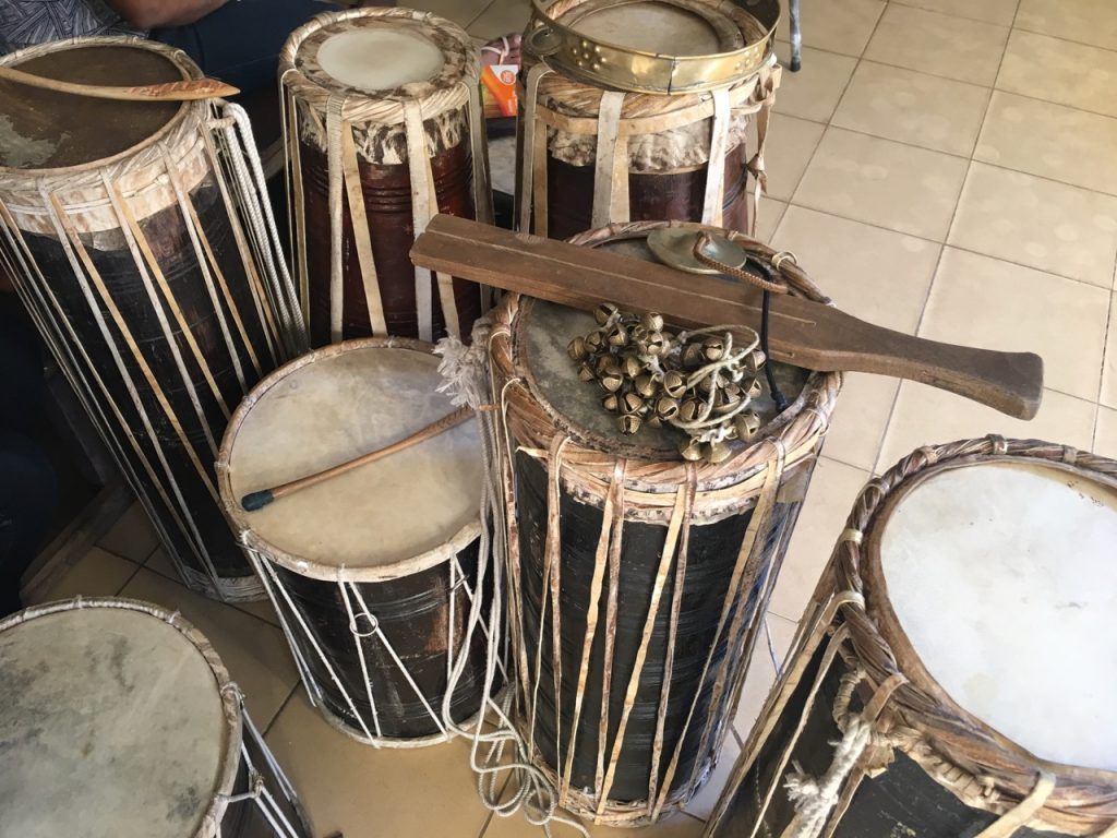 Drums used for Kandyan dance at the University of Colombo