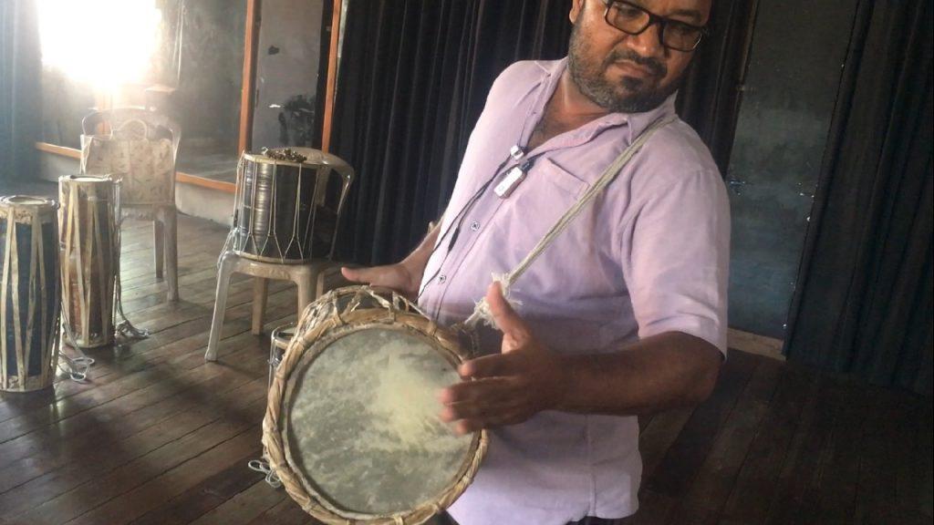 Drum demonstration at the University of Colombo Sri Lanka