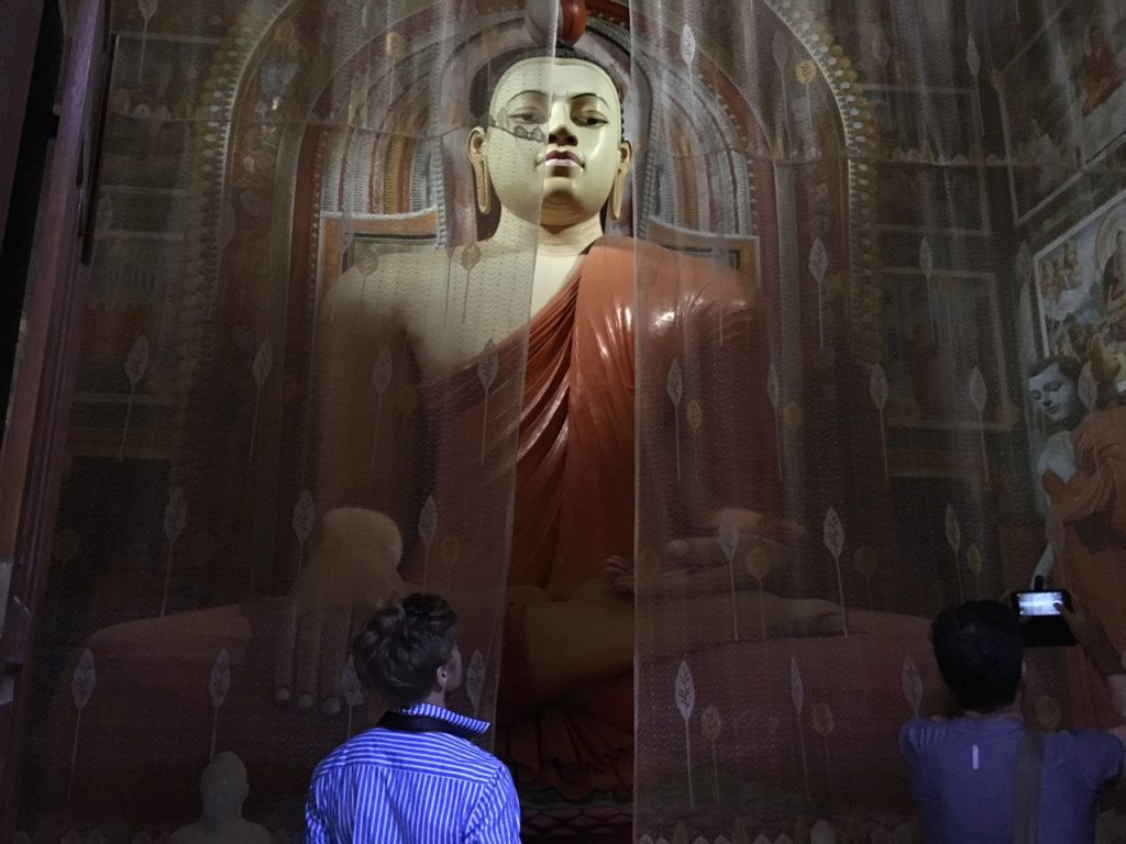 Buddha sculpture at Rathgama Lagoon Sri Lanka