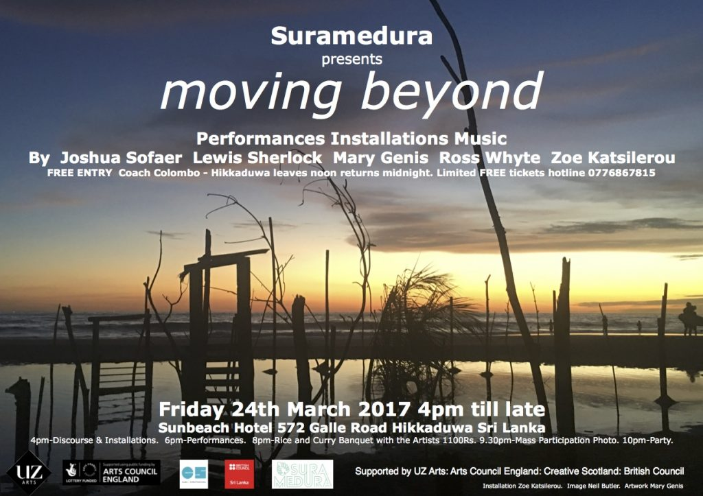 Suramedura present Moving Beyond flyer 24 March 2017 at Sunbeach Hotel Hikkaduwa