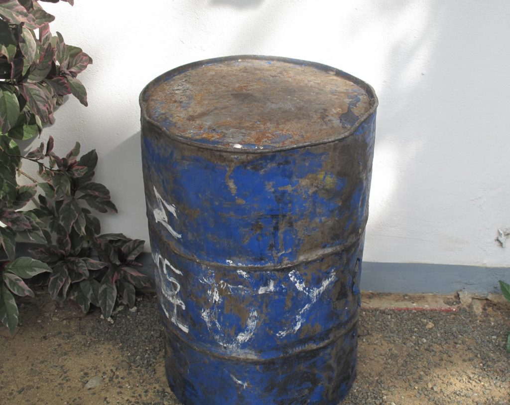 Deconstructing carnival - an oil drum is recycled into a dudup the grandfather of the steel pan